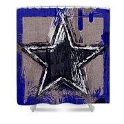 Blue Star Abstract Shower Curtain