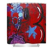 Blue Star Graffiti Nyc 2014 Shower Curtain