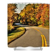 Blue Star Highway In Fall Shower Curtain