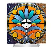 Blue Star Kachina 2012 Shower Curtain