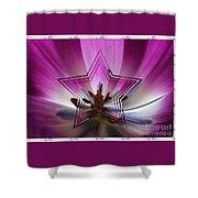 Blue Star Tulip Design Shower Curtain