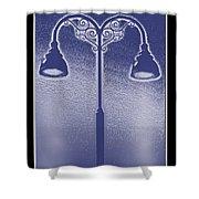 Blue Street Lights Shower Curtain