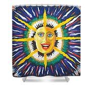 Blue Sun Shower Curtain