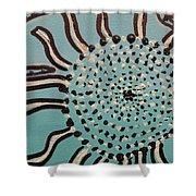 Blue Sun Tangle Shower Curtain