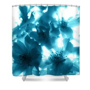 Blue Sunlight Fusion Shower Curtain