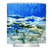 Blue Surf Shower Curtain