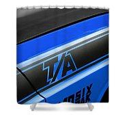 Blue Ta Shower Curtain