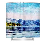 Blue Tahoe Shower Curtain