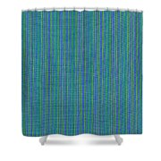 Blue Teal And Yellow Striped Textile Background Shower Curtain