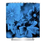 Blue Tears Shower Curtain