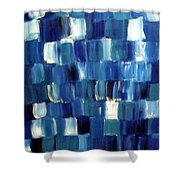 Blue Thing Shower Curtain