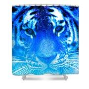Blue Tiger Shower Curtain