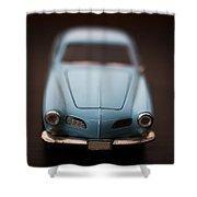 Blue Toy Car Shower Curtain