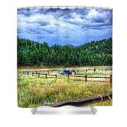 Blue Tractor Deckers Colorado Shower Curtain