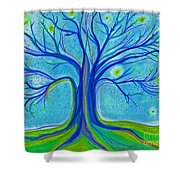 Blue Tree Sky By Jrr Shower Curtain