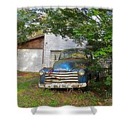 Blue Truck  Shower Curtain