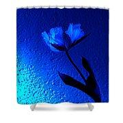 Blue Tulip Shower Curtain