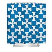 Blue Twirl Shower Curtain