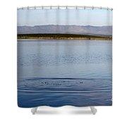 Blue Undulations Shower Curtain