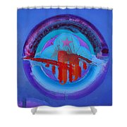 Blue Untitled Image Shower Curtain