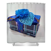 Blue Valentine Shower Curtain