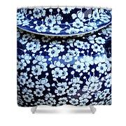 Blue Vase Shower Curtain