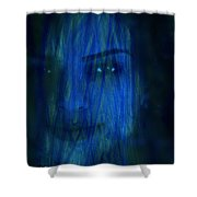 Blue Veil Shower Curtain