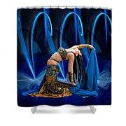 Blue Veils Shower Curtain