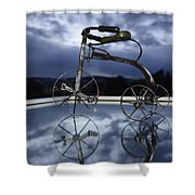 Blue Visions 5 Shower Curtain