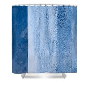 Blue Wall 01 Shower Curtain
