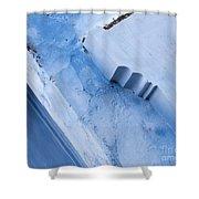 Blue Wall 03 Shower Curtain
