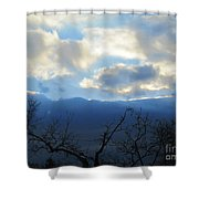 Blue Wall Clouds 4 Shower Curtain