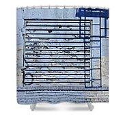 Blue Wall Shower Curtain