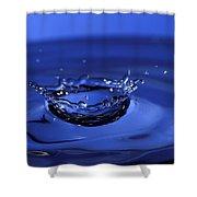 Blue Water Splash Shower Curtain