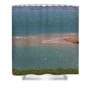 Blue Water Wilson Lake Shower Curtain