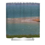Blue Water Wilson Lake Shower Curtain