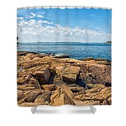 Blue Waters And Blue Skies Shower Curtain