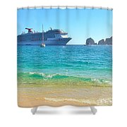 Blue Waters Of Cabo Shower Curtain