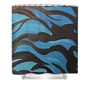 Blue Waves Of Healing Shower Curtain