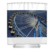 Blue Wheel In The Sky Shower Curtain