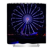 Blue Wheel Of Fortune Shower Curtain