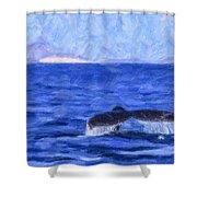 Blue Wilderness Shower Curtain