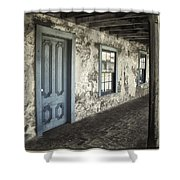 Blue Wing Inn Shower Curtain