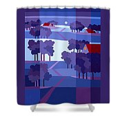 Blue Winter Farms Shower Curtain
