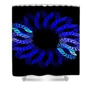 Blue Wreath Shower Curtain