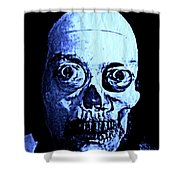 Blue Zombie Shower Curtain