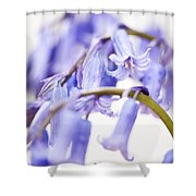Bluebell Abstract II Shower Curtain