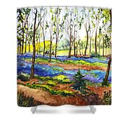 Bluebell Woods Shower Curtain