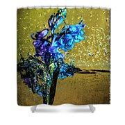 Bluebells In Water Splash Shower Curtain