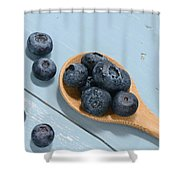 Blueberries On A Spoon Shower Curtain